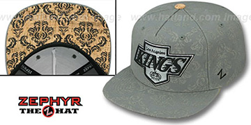 Kings 'CORKSCREW SNAPBACK' Grey Hat by Zephyr