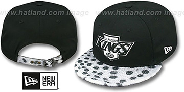 Kings 'DALMATION ANIMALISTIC-FUR VIZA STRAPBACK' Hat by New Era