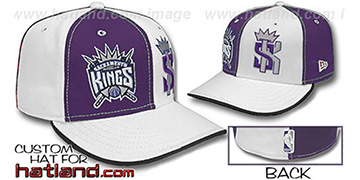 Kings DOUBLE WHAMMY Purple-White Fitted Hat