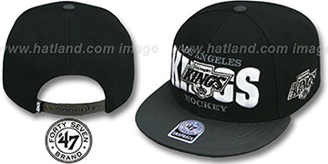 Kings FIRST CLASS SNAPBACK Black-Grey Hat by Twins 47 Brand