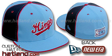 Kings 'HARDWOOD PINWHEEL-2' Columbia-Black Fitted Hat