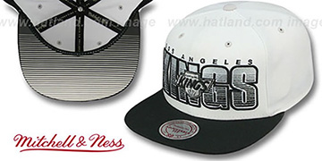 Kings 'HOMESTAND SNAPBACK' White-Black Hat by Mitchell & Ness