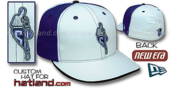 Kings INSIDER PINWHEEL White-Purple Fitted Hat by New Era