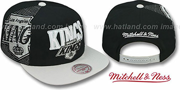 Kings 'LASER-STITCH SNAPBACK' Black-Grey Hat by Mitchell & Ness