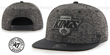 Kings 'LEDGEBROOK SNAPBACK' Black Hat by Twins 47 Brand
