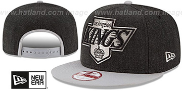 Kings LOGO GRAND SNAPBACK Charcoal-Grey Hat by New Era
