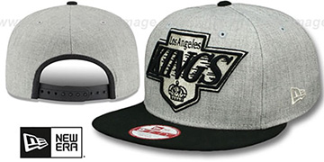 Kings LOGO GRAND SNAPBACK Grey-Black Hat by New Era