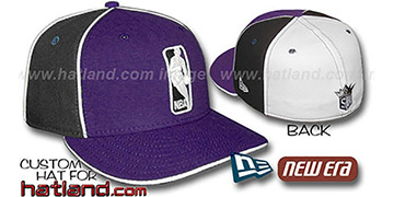 Kings LOGOMAN-2 Purple-Black-White Fitted Hat by New Era