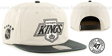 Kings 'MARVIN SNAPBACK' Ivory-Black Hat by Twins 47 Brand