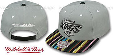 Kings 'NATIVE-STRIPE SNAPBACK' Grey Hat by Mitchell & Ness