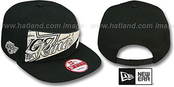 Kings 'PENNANT SNAPBACK' Black Hat by New Era