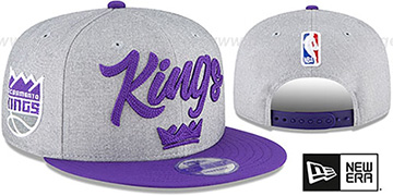 Kings ROPE STITCH DRAFT SNAPBACK Grey-Purple Hat by New Era