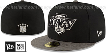 Kings 'RUSTIC-VIZE' Black-Grey Fitted Hat by New Era