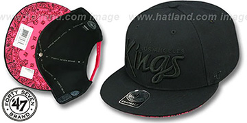 Kings 'SCRIPT PAISLEY SNAPBACK' Black-Black Hat by Twins 47 Brand