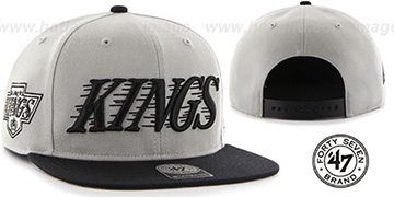 Kings 'SCRIPT-SIDE SNAPBACK' Grey-Black Hat by Twins 47 Brand