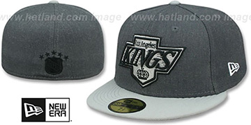 Kings 'SHADER MELT-2' Grey-Grey Fitted Hat by New Era