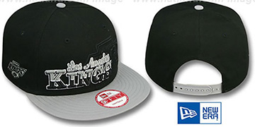 Kings SPLIT-BLOCK SNAPBACK Black-Grey Hat by New Era