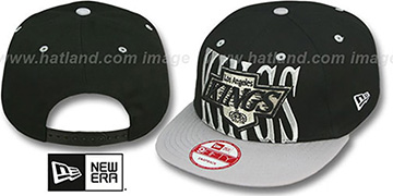 Kings STEP-ABOVE SNAPBACK Black-Grey Hat by New Era
