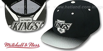 Kings 'STOP-ON-A-DIME SNAPBACK' Black-Grey Hat by Mitchell and Ness