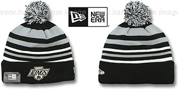 Kings 'STRIPEOUT' Knit Beanie Hat by New Era