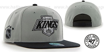 Kings 'SURE-SHOT SNAPBACK' Grey-Black Hat by Twins 47 Brand