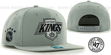 Kings 'SURE-SHOT SNAPBACK' Grey Hat by Twins 47 Brand