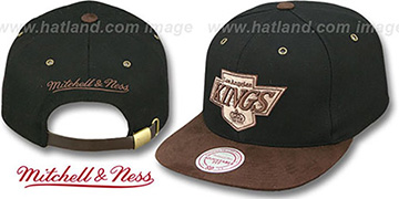Kings 'TC-BROWN SUEDE STRAPBACK' Hat Mitchell & Ness