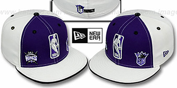 Kings 'TRIPLE THREAT' Purple-White Fitted Hat by New Era