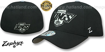Kings VINTAGE SHOOTOUT Black Fitted Hat by Zephyr