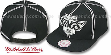 Kings 'XL-LOGO SOUTACHE SNAPBACK' Black Adjustable Hat by Mitchell & Ness