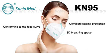 KN95 Protection Face Mask 100-PACK by Konin Med