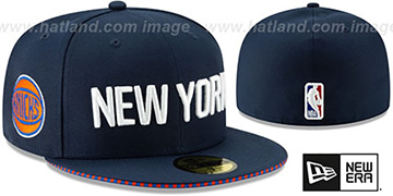 Knicks '18-19 CITY-SERIES' Navy Fitted Hat by New Era