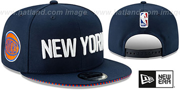 Knicks '18-19 CITY-SERIES SNAPBACK' Navy Hat by New Era