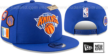 Knicks '2018 NBA DRAFT SNAPBACK' Royal Hat by New Era