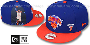 Knicks ANTHONY 'PLAYER-TWIST SNAPBACK' Royal-Orange Hat by New Era