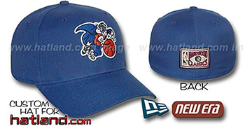 Knicks BASIC HARDWOOD Fitted Hat by New Era - royal