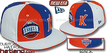 Knicks CONFERENCE 'DOUBLE WHAMMY' Fitted Hat by New Era