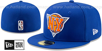 Knicks DECEPTORED Royal Fitted Hat by New Era