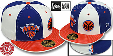 Knicks DOUBLE WHAMMY 2 Royal-White Fitted Hat
