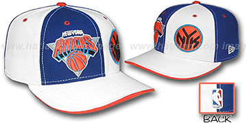 Knicks 'DOUBLE WHAMMY' Royal-White Fitted Hat