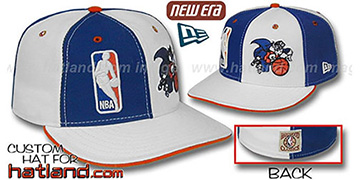 Knicks DW 'LOGOMAN' OLD-SCHOOL Royal-White Fitted Hat