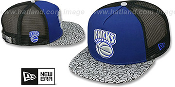 Knicks ELEPHANT-HOOK STRAPBACK Royal-Black Hat by New Era