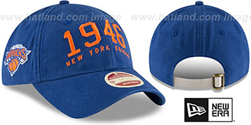 Knicks 'ESTABLISHED YEAR STRAPBACK' Royal Hat by New Era