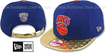 Knicks 'ETCHAVIZA STRAPBACK' Royal-Gold Hat by New Era