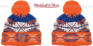 Knicks HWC GEOTECH Knit Beanie by Mitchell and Ness