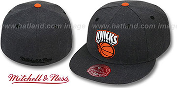Knicks 'GREY HEDGEHOG' Fitted Hat by Mitchell & Ness