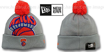 Knicks 'HWC-BIGGIE' Grey Knit Beanie Hat by New Era