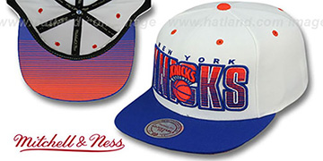 Knicks 'HWC HOMESTAND SNAPBACK' White-Royal Hat by Mitchell & Ness