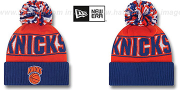 Knicks HWC 'REP-UR-TEAM' Knit Beanie Hat by New Era