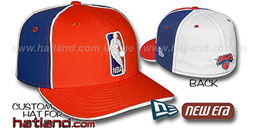 Knicks LOGOMAN-2 Orange-Royal-White Fitted Hat by New Era